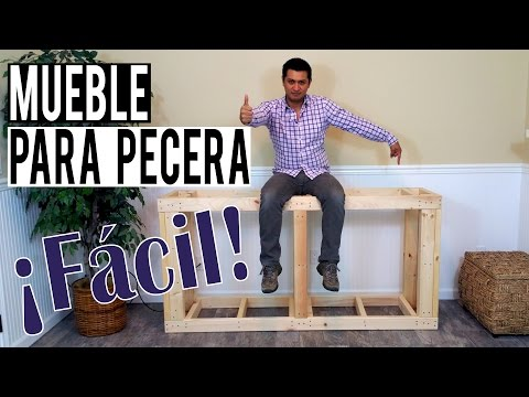 Cómo hice un mueble para mi pecera ¡Fácil!