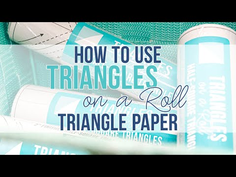How to use the Triangles on a Roll Triangle Paper | Fat Quarter Shop