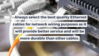 What are the Measures To Be Taken While Installing Network Cabling Dubai