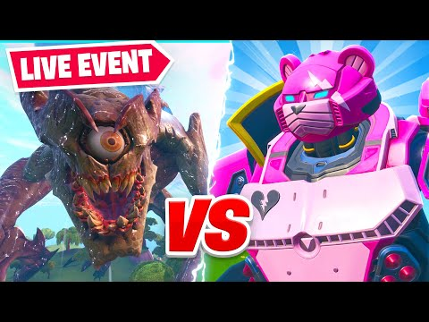 fortnite live monster vs robot final showdown event