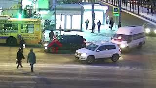 Наезд на пешехода. ДТП Советская/Ленина. 18.01.18. - YouTube