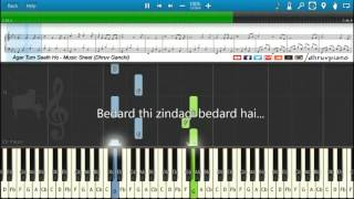 ♫ Agar Tum Saath Ho (Tamasha) || Piano Tutorial + Music Sheet + MIDI with Lyrics
