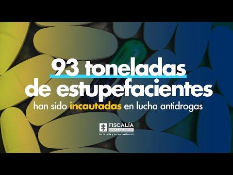 93 toneladas de estupefacientes han sido incautadas en lucha antidrogas