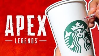 Drawing APEX LEGENDS - on a STARBUCKS CUP???