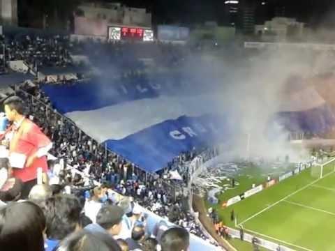 """""""LA SANGRE AZUL MI LOCO AMOR RECIBIMIENTO A CRUZ AZUL"""" Barra: La Sangre Azul • Club: Cruz Azul"""