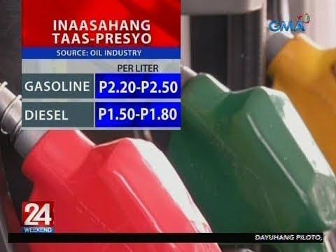 [GMA]  24 Oras: Big time oil price hike, inaasahan sa darating na Linggo