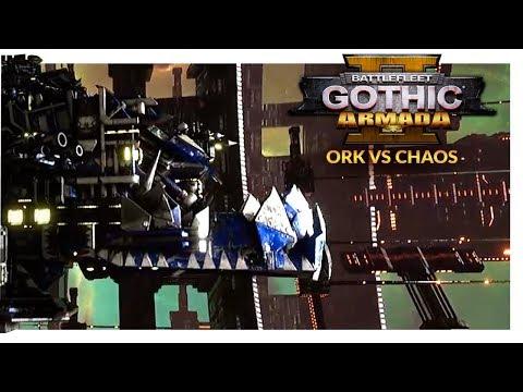 BATTLEFLEET GOTHIC ARMADA 2 | 'UMIE STYLE? - Ork vs Chaos (Ranked 1v1)