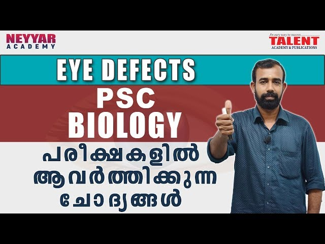 Kerala PSC Biology (Eye Defects) Most Repeated Questions and Answers | Talent Academy