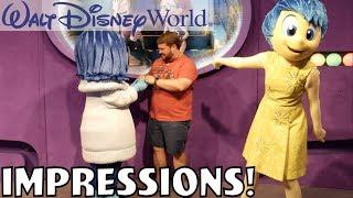 I MADE SADNESS HAPPY?!? - Disney World Impressions - Video Youtube