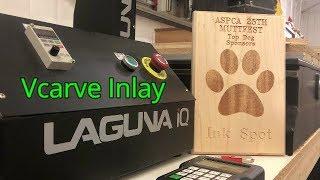 CNC VCarve Inlay // Laguna IQ // Aspire Demo