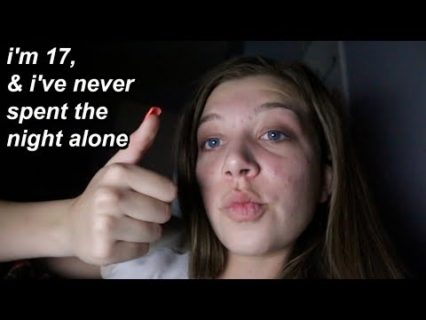 my first night staying home alone *vlog*