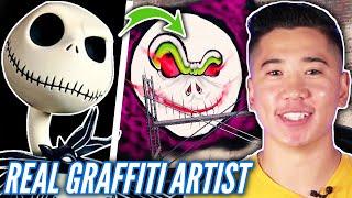 Graffiti Artist Tags A Wall In Graffiti Simulator • Spooky Edition