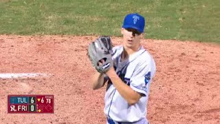 Tulsa's Buehler notches seventh strikeout