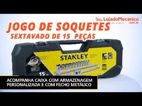 Jogo de Soquetes Maxi Drive Sextavado 10 a 27mm com Encaixe de 1/2 Pol. com 15 Peças - Video