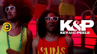 "LMFAO parties like the party don't stop – even when they really, really want it to.   About Key & Peele:  Key & Peele showcases the fearless wit of stars Keegan-Michael Key and Jordan Peele as the duo takes on everything from ""Gremlins 2"" to systemic racism. With an array of sketches as wide-reaching as they are cringingly accurate, the pair has created a bevy of classic characters, including Wendell, the players of the East/West Bowl and President Obama's Anger Translator.   Subscribe to Comedy Central: https://www.youtube.com/channel/UCUsN5ZwHx2kILm84-jPDeXw?sub_confirmation=1  Watch more Comedy Central: https://www.youtube.com/comedycentral  For more original comedy, check out @Comedy Central Originals: https://www.youtube.com/channel/UCNVBYBxWj9dMHqKEl_V8HBQ?sub_confirmation=1    Follow Key & Peele: Facebook: https://www.facebook.com/KeyAndPeele/ Twitter: https://twitter.com/keyandpeele Watch full episodes of Key & Peele: http://www.cc.com/shows/key-and-peele  Follow Comedy Central: Twitter: https://twitter.com/ComedyCentral Facebook: https://www.facebook.com/ComedyCentral/ Instagram: https://www.instagram.com/comedycentral/  #KeyandPeele #LMFAO"