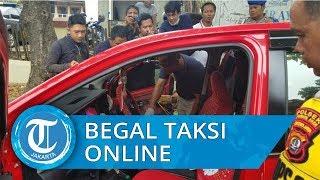 Pelaku Begal dan Serang Driver Taksi Online di Tangerang, Mobil Tabrak Trotoar