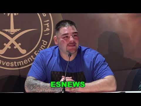 """Andy Ruiz """"I Won 1 Anthony Joshua Won 1 Lets Do It Again"""" EsNews Boxing"""