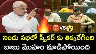 Speaker FIRES on Chandrababu Naidu & TDP Leaders | AP Assembly Sessions 2019 | NewsQube
