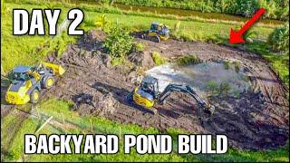BUILDING MASSIVE BACKYARD POND!! (Part 2)
