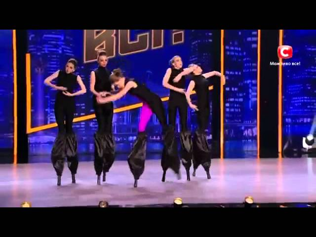 "Liumanov show - ""tutus"" dance on stilts (танцы на ходулях)"