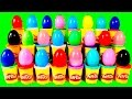 Surprise Eggs Learn Numbers And ABC W/ Surprise Eggs Spiderman Peppa Pig Mickey Mouse