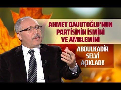 DAVUTOĞLU'NUN PARTİSİNİN İSMİ VE AMBLEMİ (Abdulkadir Selvi - Gazeteoku - Sesli Makale)