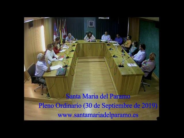 Pleno Ordinario (30 de septiembre 2019)