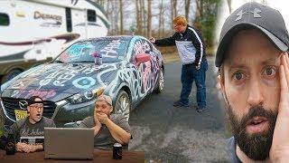 'SPRAY PAINTING BIGBRUDDA'S CAR!' Reaction!