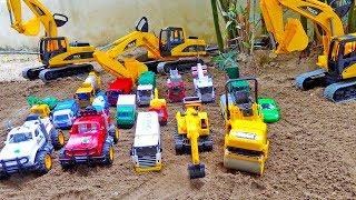 중장비 자동차 장난감 모래놀이 포크레인 구출놀이 경찰차 조립놀이 Car Toy for Kids Video