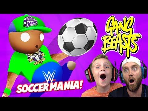 Soccer Mania! WRESTLERS in Gang Beasts 3! KIDCITY GAMING