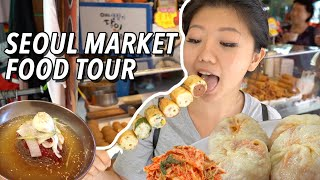 KOREAN STREET FOOD 🥟 LARGEST Traditional Market Food Tour in Seoul, South Korea | Namdaemun Market