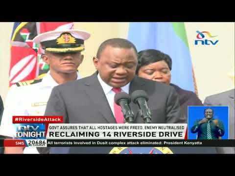 Security agencies commended for a well coordinated operation during the Riverside attack