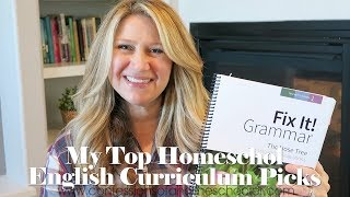 Top English / Grammar Homeschool Curriculum Picks