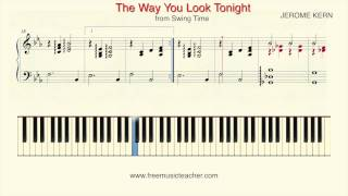 """How To Play Piano: """"The Way You Look Tonight"""" from Swing Time Piano Tutorial by Ramin Yousefi"""