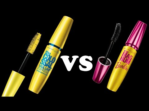 f819d23dd1d Review : Maybelline Magnum Barbie Mascara Vs Maybelline Colossal Volume  Express Mascara