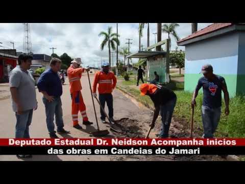 VÍDEO: DEPUTADO DR. NEIDSON ACOMPANHA INÍCIOS DAS OBRAS EM CANDEIAS DO JAMARI