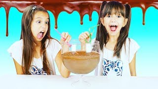 CANDY BAR SMOOTHIE CHALLENGE - EVERY CHOCOLATE BAR IN A SMOOTHIE!!! SIS Vs SIS | Emily And Evelyn