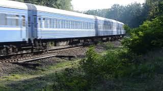 Тепловоз ТЭП70-0315 с поездом № 689 Гомель-Витебск.