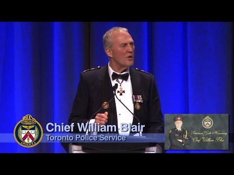 Retirement Gala Honouring @TorontoPolice Chief William Blair