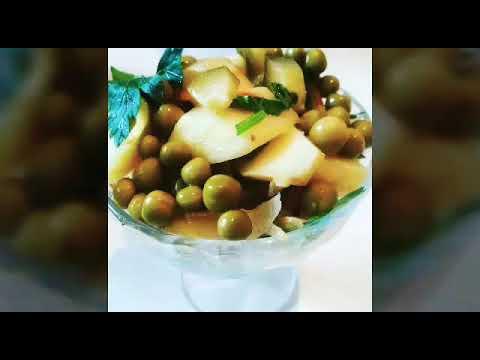 Картофельный салат по - сербски  РЕЦЕПТ САЛАТА ЗА 30 МИНУТ// Салат на каждый день// Постное блюдо