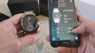 How To SYNC Your MOVADO Museum Sport Motion X 365 Watch with Smartphones & Tablets App! 2 7 2018