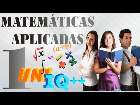 CURSO DE MATEMÁTICAS APLICADAS 1 - RESOLVIENDO 4 PROBLEMAS ALGEBRAICOS BÁSICOS