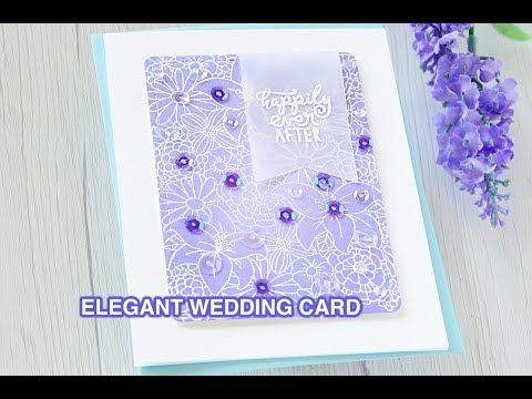 Simple And Elegant Wedding Card