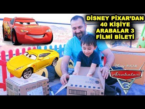 DİSNEY PİXAR'DAN ARABALAR 3 FİLMİNE 40 BİLET! | OYUNCAK KUTU AÇILIMI