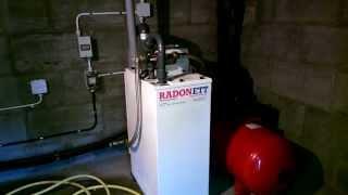 Radonett A1UV Radon Aerator - in operation (removes radon gas from fresh water)