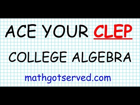 CLEP college algebra Practice Test - YouTube