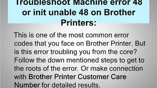 Steps to Fix Brother Printer Unable to print error 48