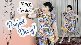Making A Tropical 1940s Dress - Summer Sewing 2019