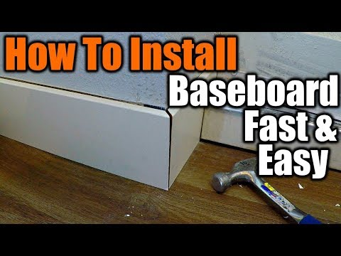 How To Install Baseboard The Easy Way | THE HANDYMAN |