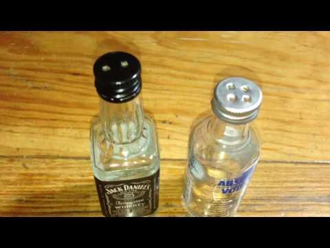 Tutorial Para Hacer Floreros,Saleros Y Pimenteros Con Botellas Petit!